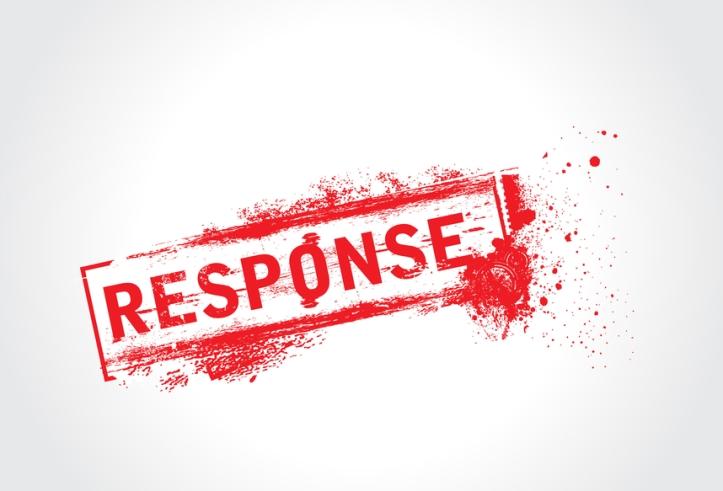 Response Grunge Text